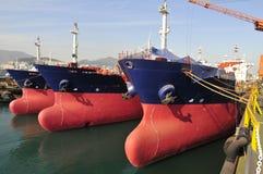 Tankers in shipyard Royalty Free Stock Image