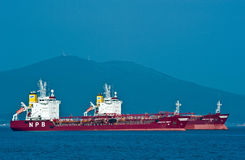 Tankers standing in the roads. Nakhodka Bay. East (Japan) Sea. 01.08.2014 Royalty Free Stock Image