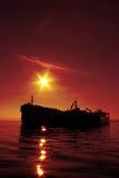 Tankerschattenbild Stockbilder