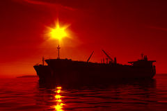 Tankerschattenbild Stockfotos