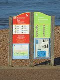 Tankerton bay resort information board Stock Image