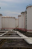 Tankfarm. Tank farm is place to store fuel oil stock photography