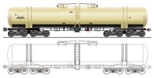 tankfartyg för bilbensinolja Arkivbild