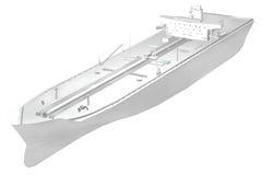 tankfartyg för olja 3d Royaltyfri Illustrationer