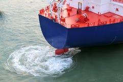 tankfartyg för olja för gasgrudeindustri Fotografering för Bildbyråer