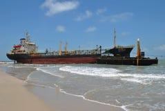 tankfartyg för ship för kanallastgermany kiel olja Arkivbilder