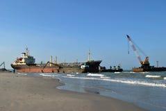 tankfartyg för ship för kanallastgermany kiel olja Royaltyfria Bilder
