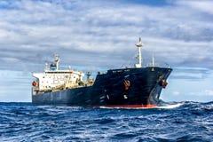 tankfartyg för ship för kanallastgermany kiel olja Arkivfoton