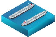 tankfartyg för ship för kanallastgermany kiel olja Fossila bränslenbransch och havstrans., sändnings och begrepp för kommers för  vektor illustrationer