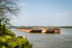 Tankfartyg på Danubet River Royaltyfria Foton