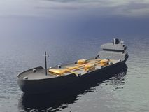 Tankfartygskepp - 3D framför Arkivbilder