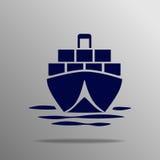 Tankfartygsymbol Vektor Illustrationer