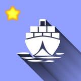 Tankfartygsymbol Stock Illustrationer