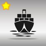 Tankfartygsymbolsillustration Vektor Illustrationer