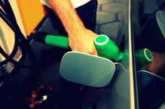 Tanking del combustibile Immagini Stock Libere da Diritti
