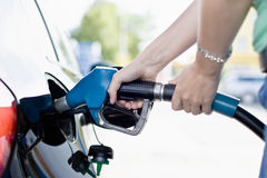 Tanking up with Gasoline Royalty Free Stock Photos