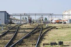 Tanklager in Feodosia Stockbild
