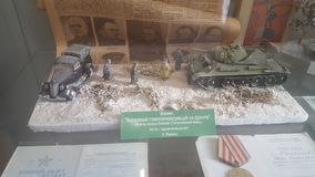Tankmodellen Stock Afbeelding