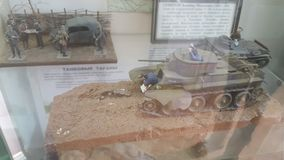 Tankmodellen Stock Foto
