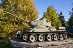 Tankmonument, tweede wereldoorlog Stock Afbeeldingen