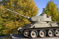 Tankmonument, tweede wereldoorlog Royalty-vrije Stock Fotografie