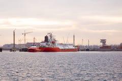 Tankowa statek Zdjęcie Stock