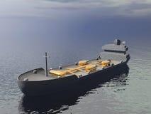 Tankowa statek - 3D odpłacają się Obrazy Stock