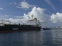 Tankowa statek pod manewrować operacje Zdjęcie Stock