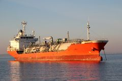 Tankowiec na wysokich morzach Zdjęcia Royalty Free