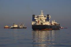 Tankowiec na wysokich morzach Zdjęcie Royalty Free