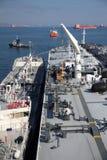 Tankowiec na wysokich morzach Fotografia Royalty Free