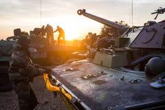 Tankowowie cudzoziemski Zdjęcia Royalty Free
