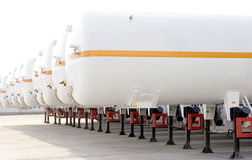 Tanks. For oil or natural gas in trucks Stock Photos