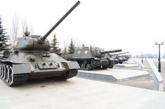 Tanks alley, Victory Park, Kazan, Russia. Tanks alley in Victory Park in Kazan, Russia, 09.03.2017 Royalty Free Stock Photo