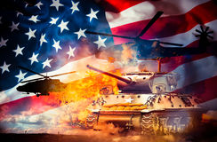 Tanks And Helicopters Stock Photography