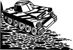Tanks, armored vehicles - Vector illustration. Stock Photos