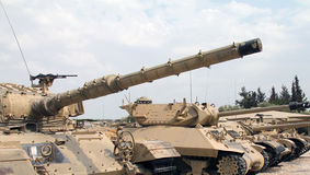 Tanks built abreast stock images