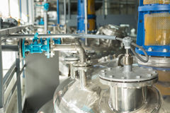 Tanks for chemical mixing. Tanks for chemical mixing on chemical plant. Concept: Manufacturing stock photos