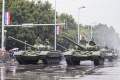 Tanks and croatian army in the centre of Zagreb Stock Image