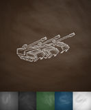 Tanks icon. Hand drawn vector illustration. Chalkboard Design Stock Images