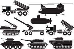 Tanks. Illustration - Silhouette tanks icon set Stock Photography