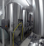 Tanks In Microbrewery Stock Photography
