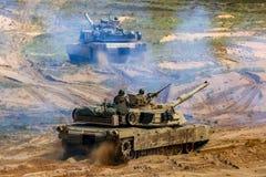 Free Tanks In Military Training Saber Strike In Latvia Royalty Free Stock Image - 138145236