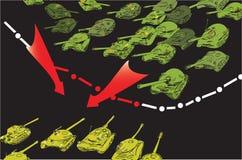 Tanks Invasion Stock Image
