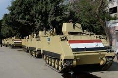 Tanks in Kaïro, Egypte Royalty-vrije Stock Afbeelding