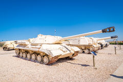 Tanks in museum Stock Photo