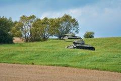 Tanks op het Gebied royalty-vrije stock foto's