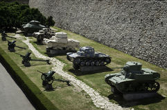 Tanks (Panzers) and cannons Royalty Free Stock Photos