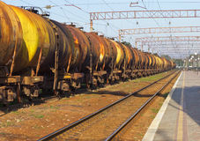 Tanks by rail Stock Image