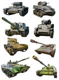 Tanks of Russian , American and British different time Royalty Free Stock Photography